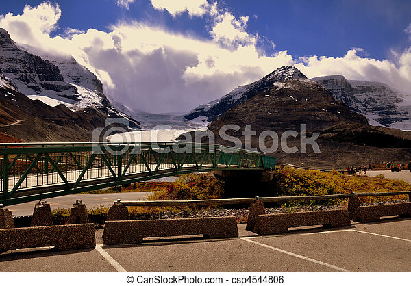 mountain view athabasca glaciers - csp4544806