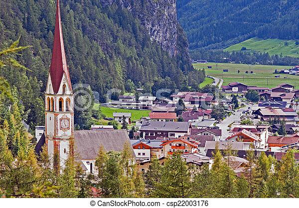 Mountain village in Otztal, Tirol, Austria - csp22003176