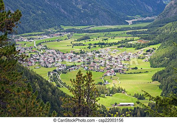 Mountain village in Otztal, Tirol, Austria - csp22003156