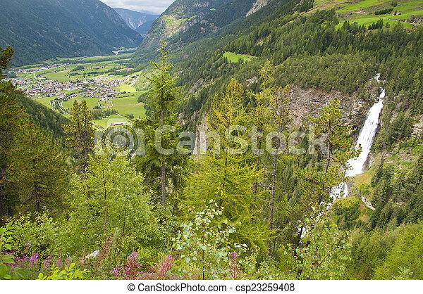 Mountain village in Otztal, Tirol, Austria - csp23259408