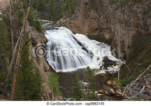 mountain waterfall - csp9963145