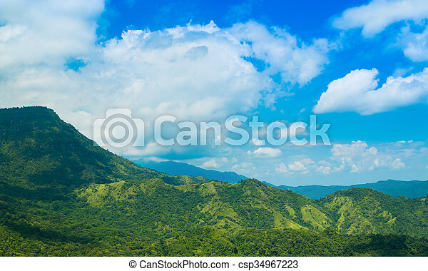 mountain with blue sky - csp34967223
