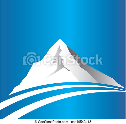 Mountain with road logo image - csp19543418