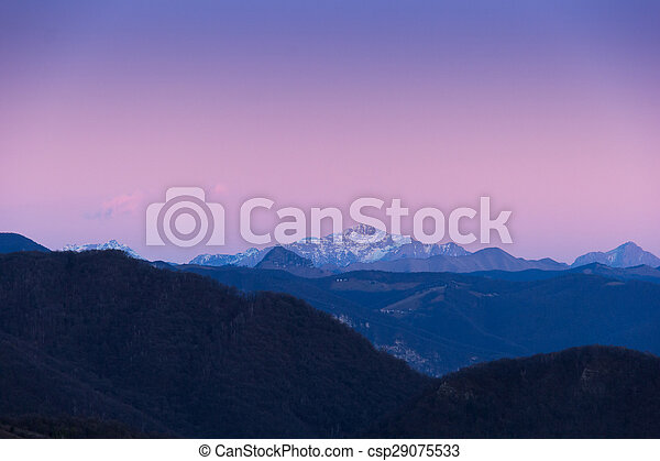 Mountain with sunset - csp29075533