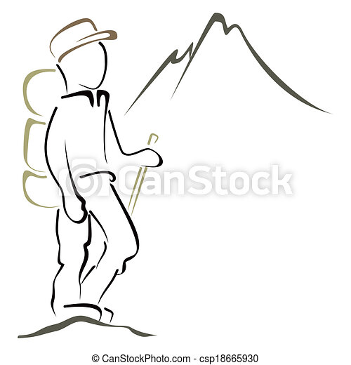 Mountaineering symbol - csp18665930