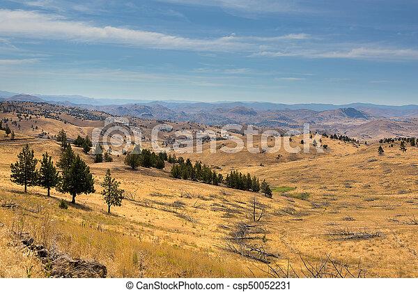 Mountainous Terrain in Central Oregon - csp50052231