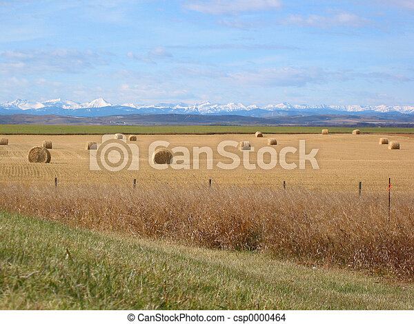 Mountains and Bales - csp0000464