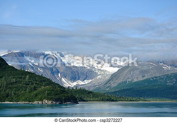 Mountains and Glacier, Glacier Bay National Park, Alaska - csp3272227