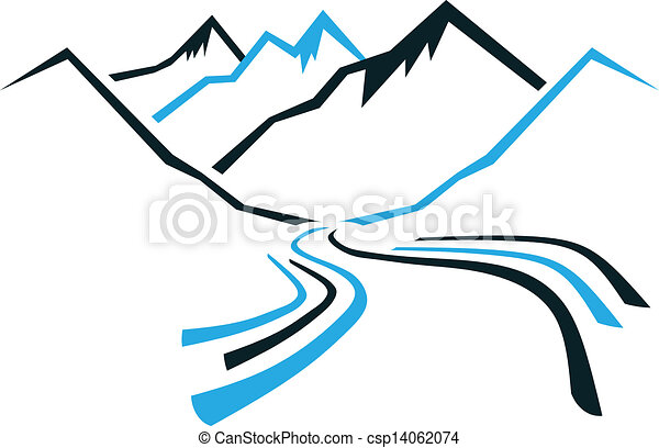 Mountains and Valley - csp14062074