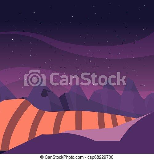 mountains hills night sky natural landscape - csp68229700