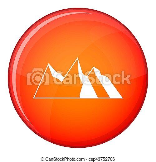 Mountains icon, flat style - csp43752706