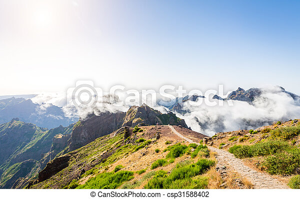 Mountains in clouds - csp31588402