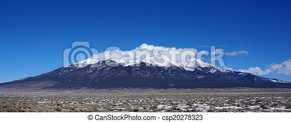 Mountains in Colorado in winter - csp20278323