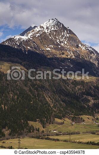Mountains in ski resort Matrei in Osttirol, Austria - csp43594978