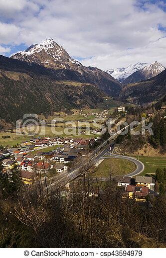 Mountains in ski resort Matrei in Osttirol, Austria - csp43594979