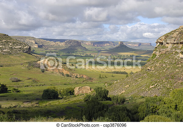 Mountains in South Africa - csp3876096