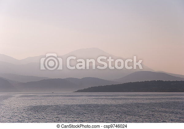 Mountains in the Morning Mist - csp9746024