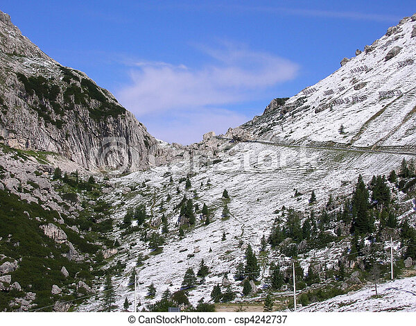 Mountains in Val Gardena - csp4242737