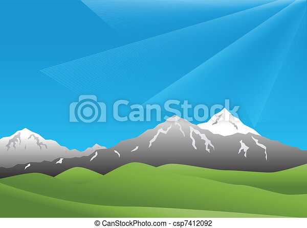 mountains landscape - csp7412092