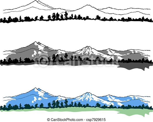 Mountains landscapes - csp7929615