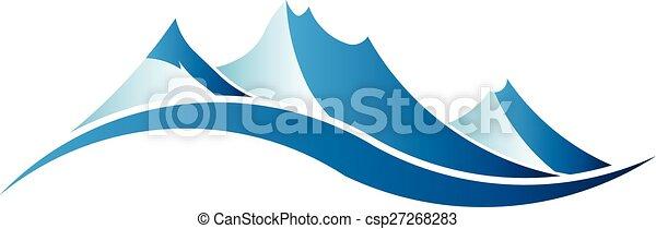 Mountains logo image. - csp27268283