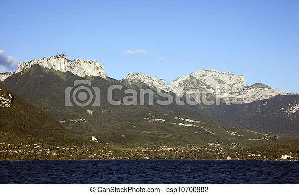 mountains nearby the lake of annecy - csp10700982