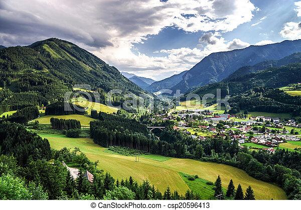 Mountains of Shtiria, Austria, at summer - csp20596413