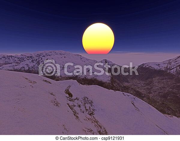 Mountains - csp9121931