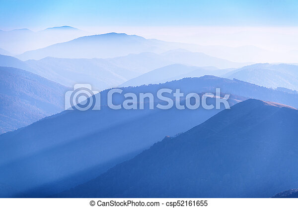 Mountains silhouettes in perspective - csp52161655