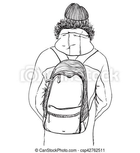 Mountains sketch. Hand drawn Rocks vector illustration - csp42762511