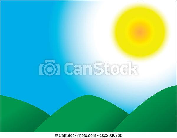 Mountains Sky Sun - csp2030788