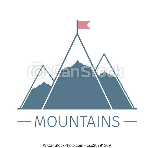 Mountains with Flag - csp38791369