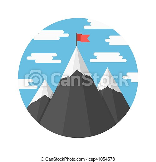 Mountains with Flag - csp41054578