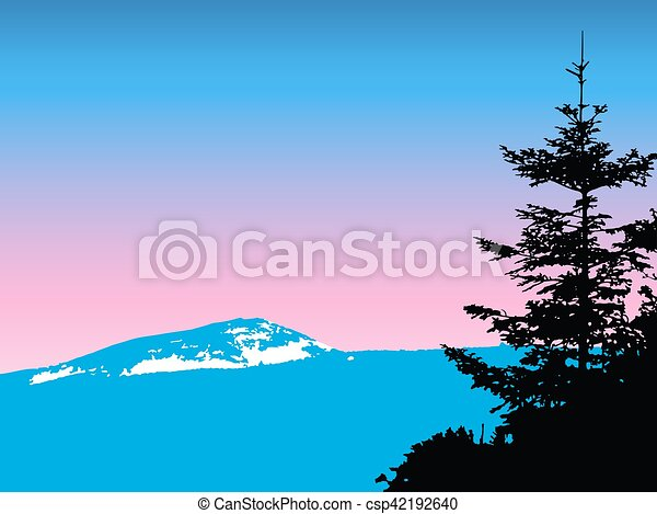 mountains with snow - csp42192640