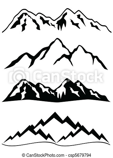 eps vector of mountains with snowy peaks csp5679794