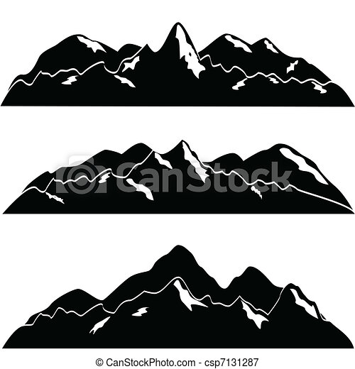 Mountains with snow - csp7131287