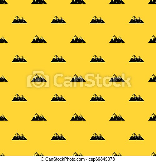 Mountains with snow pattern vector - csp69843078