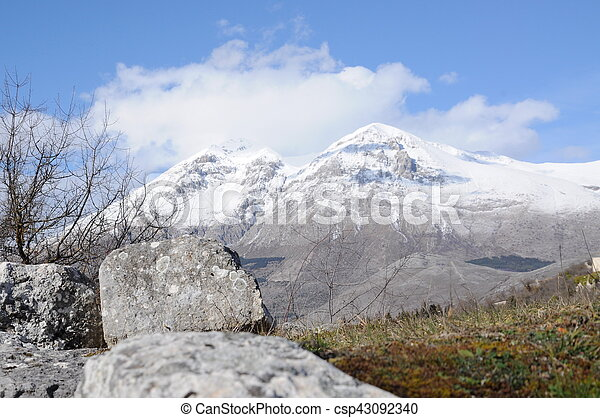mountains with snow - csp43092340