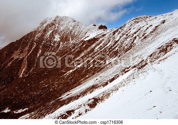 Jade montesa con nieve - csp1716306