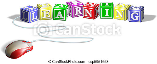 Mouse and learning blocks concept - csp5951653