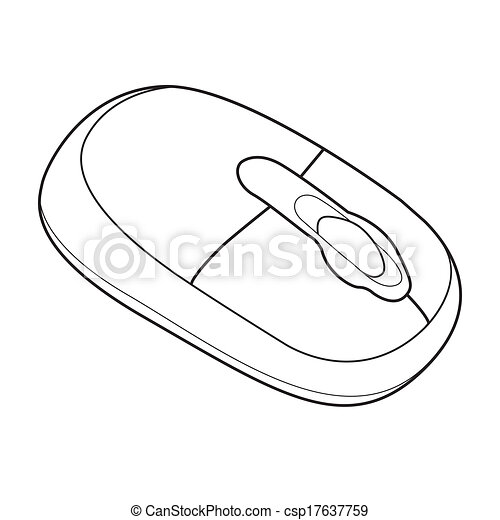 Mouse Computer Out Line Vector Image Of Wireless Computer Mouse