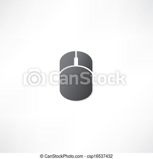 mouse elaboratore, icona - csp16537432