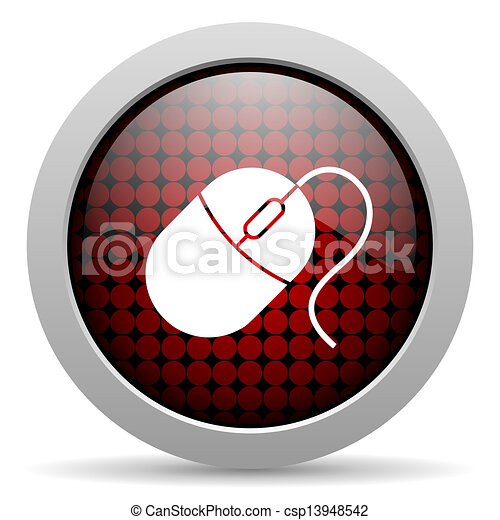 mouse glossy icon - csp13948542