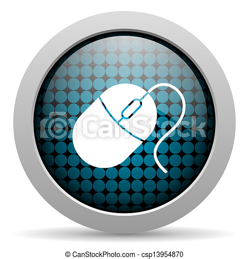 mouse glossy icon - csp13954870