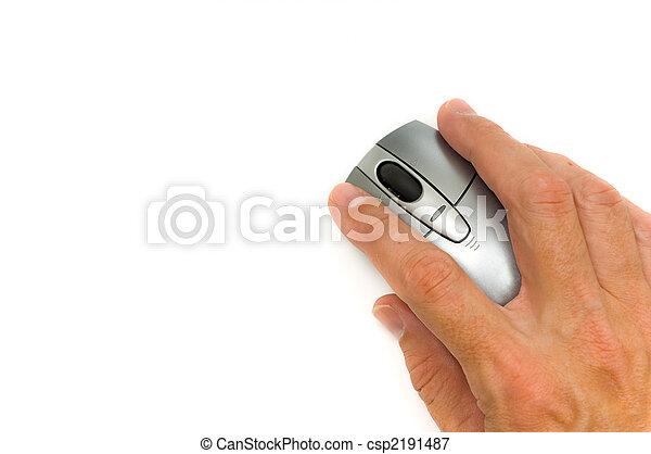 Mouse on white - csp2191487