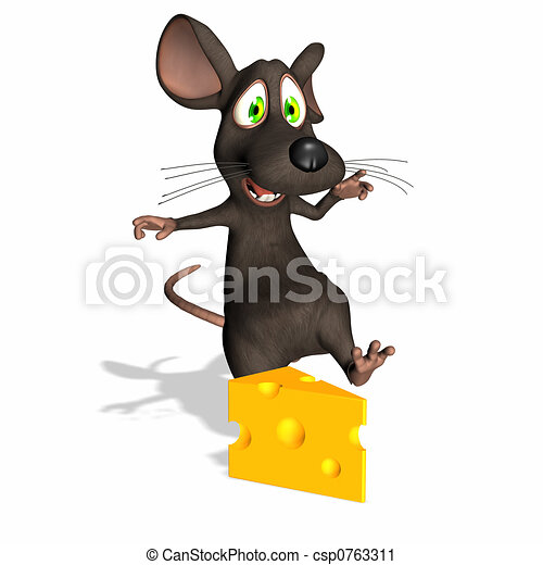 Mouse - Swiss Cheese - csp0763311