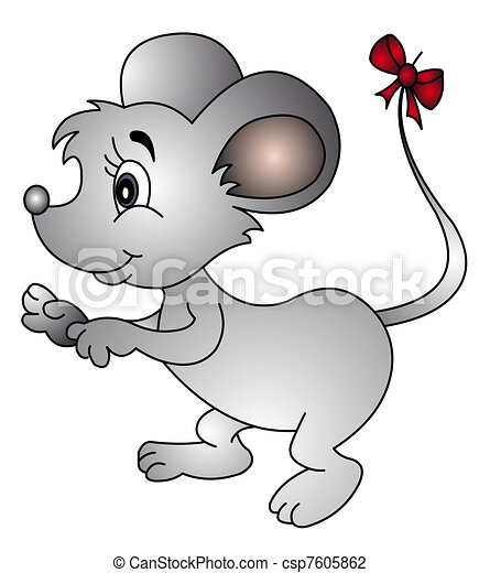 mouse with bow on tail - csp7605862