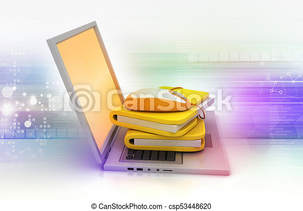 mouse with file folder - csp53448620