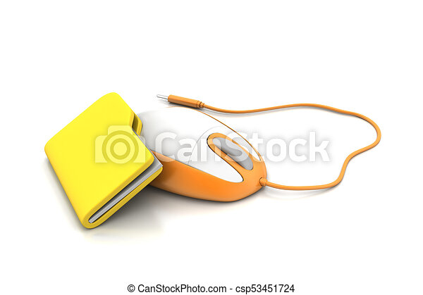 mouse with file folder - csp53451724