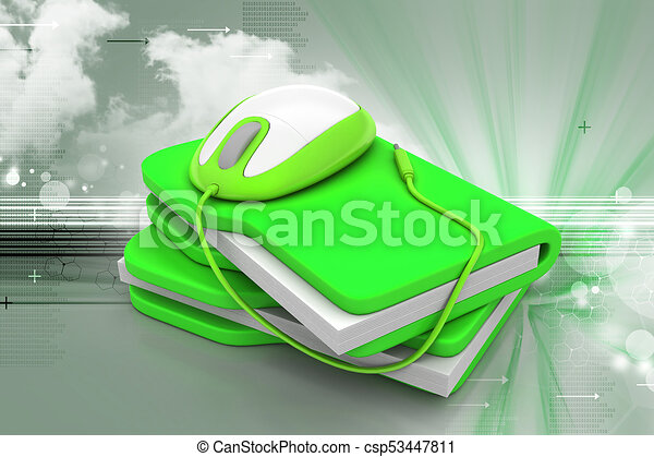 mouse with file folder - csp53447811